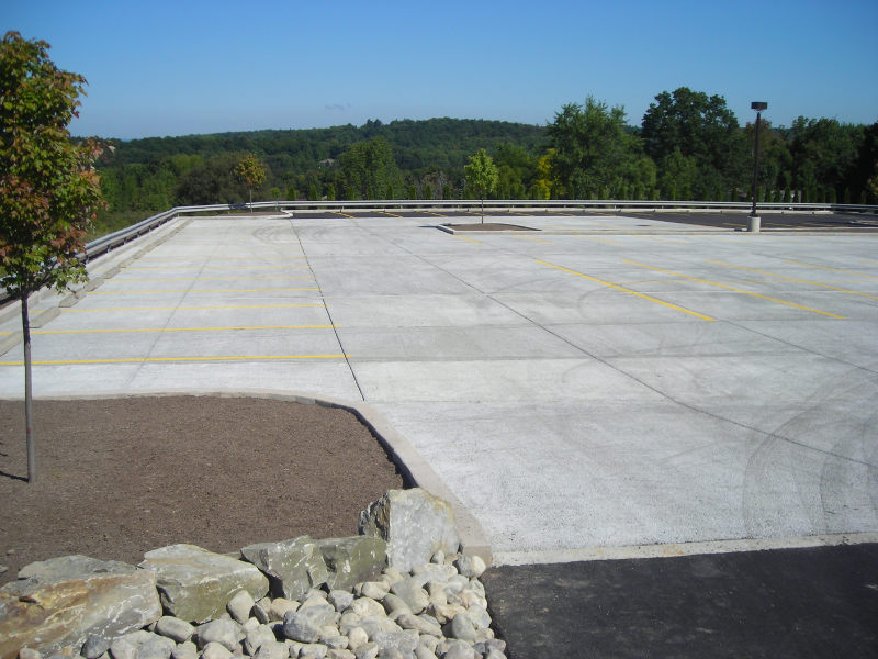 commercial concrete parking lot