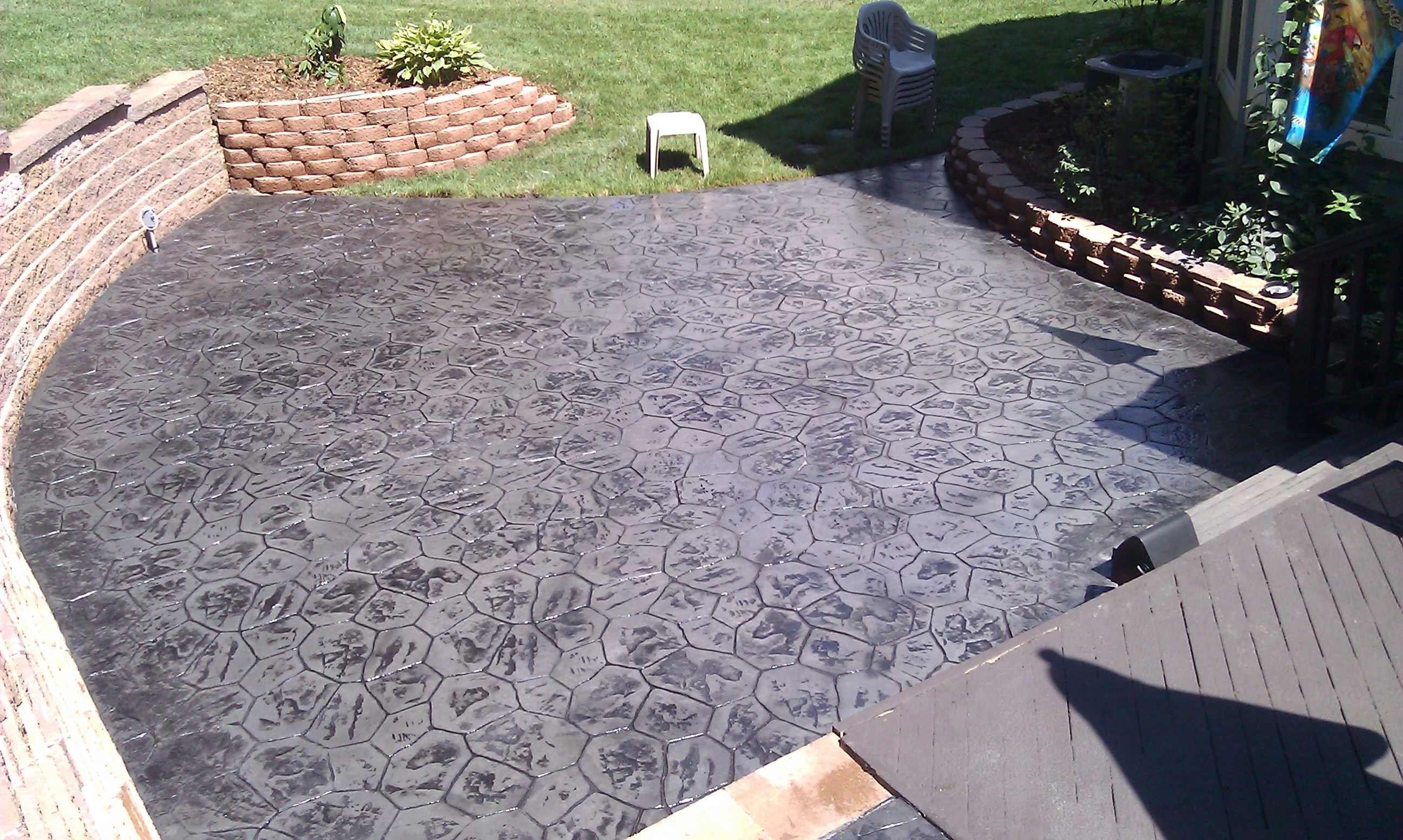 stamped concrete patio ideas in washington twp mi concrete