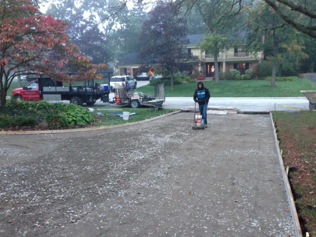 concrete driveway chesterfield mi